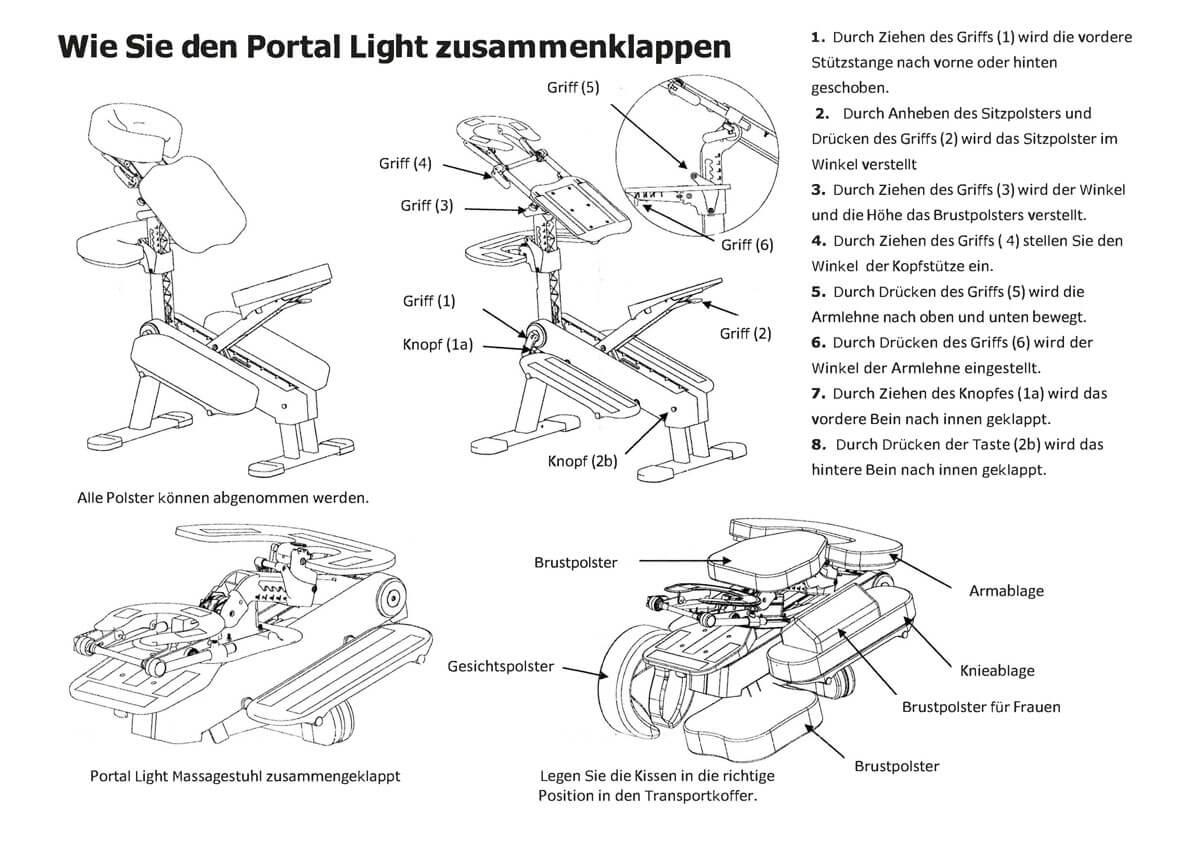 Massagestuhl Aufbauanleitung für Portal Light