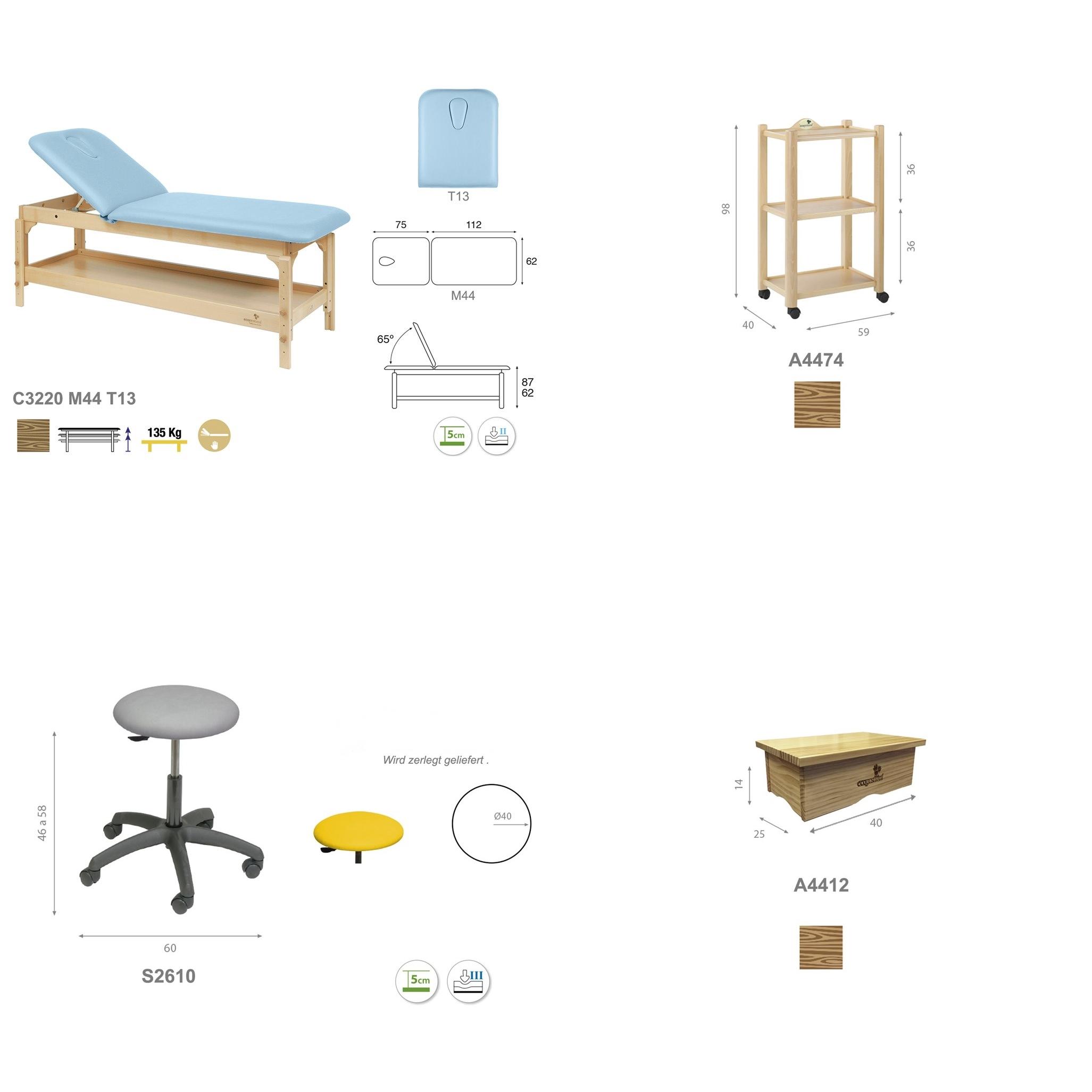 Einrichtungs-Set PACK02 im Detail.  - Technische Details | Ecopostural