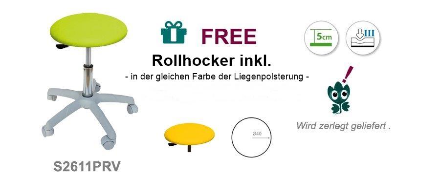 Rollhocker für die Massageliege & Therapieliege C3542 - Technische Details Ecopostural