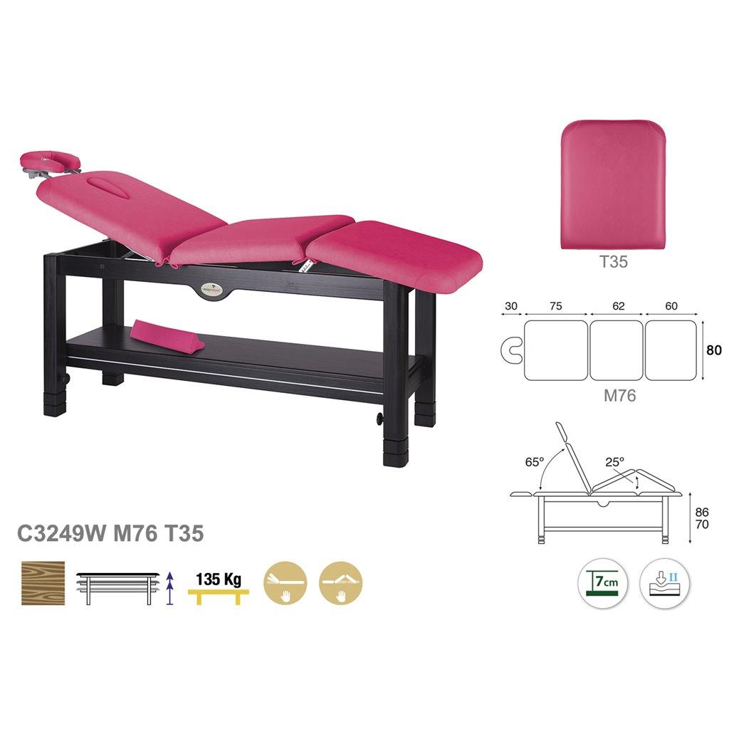Massageliege C3249 - Technische Detail