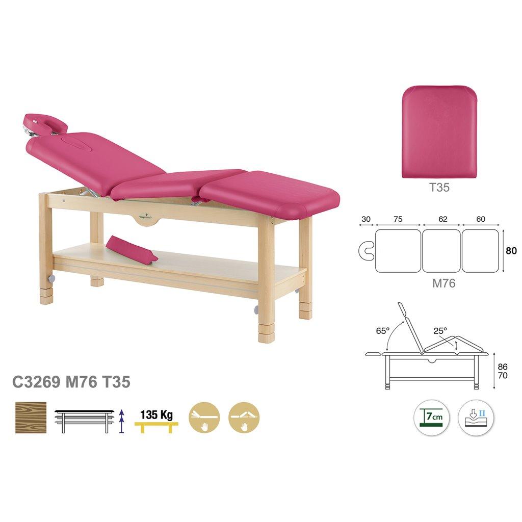 Massageliege C3269- Technische Detail