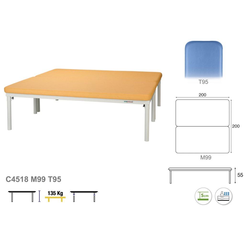 Therapieliege C4518 - Technische Details Ecopostural