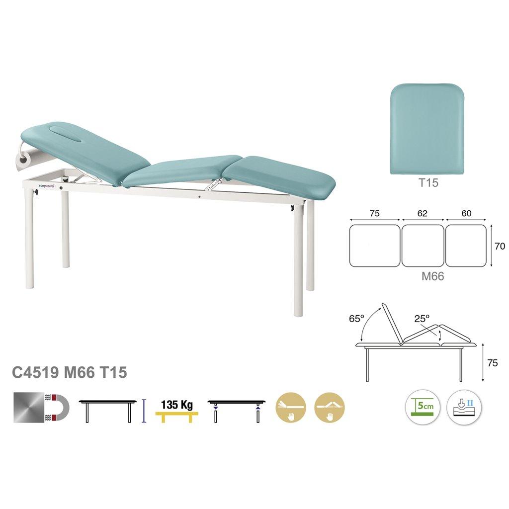 Massageliege und Therapieliege C4519 - Technische Details Ecopostural