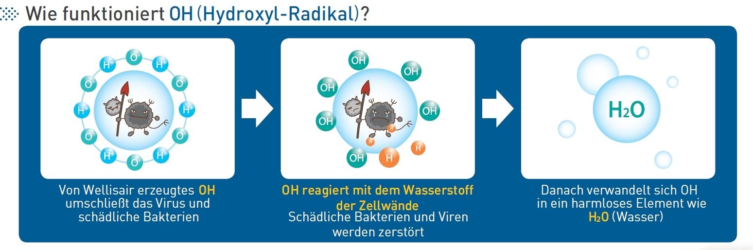 Hydroxyl-Radikal Skizze
