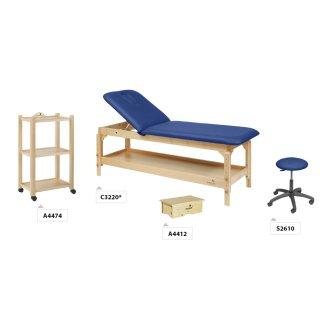 Massageliegen Einrichtungs-Komplettset aus Holz | PACK02